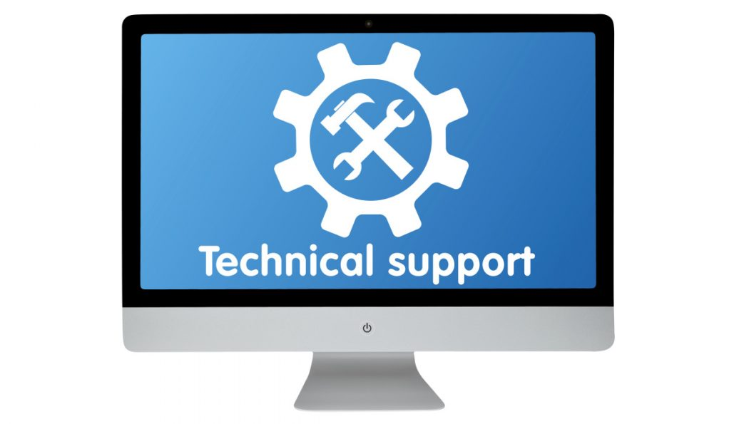 Technical support. Modern computer